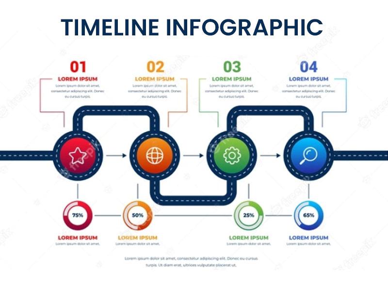 Website Timeline Infographic